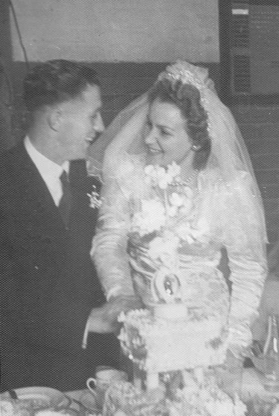 Norman James Beattie and Beverly Ava Tromp on wedding day.png